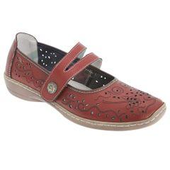 Boulevard Damen Sommer Leder-Schuhe mit Lochmuster