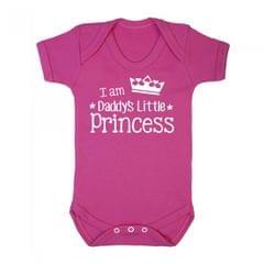 FLOSO Baby Mädchen Kurzarm Body Strampler mit der Aufschrift  Daddys Little Princess