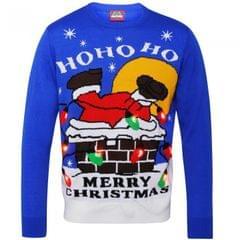 Christmas Shop Unisex Santa Down Chimney Pullover mit Lichtern