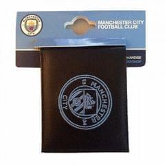 Manchester City FC Kustleder Geldbörse mit Wappen Bestickung
