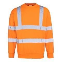 RTY Herren High Vis Sweatshirt in Neonfarben