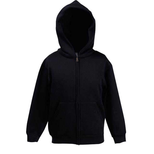 Kids Hoodie Full Zip Boys /& Girls Fruit of the Loom School Sweatshirt SS825