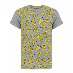 Pokemon Jungen All-Over Pikachu Design T-Shirt