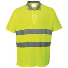 Portwest Komfort Safety Polo Shirt, Kurzarm, Baumwolle, reflektierend