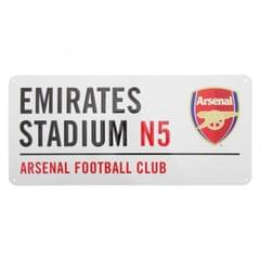 Arsenal FC Emirates Stadium Metall Schild mit Straßen Namen