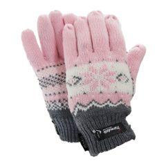 FLOSO Damen Thermo Strick-Handschuhe mit Norweger-Muster