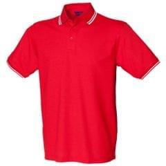 Henbury Kinder Unisex Poloshirt mit Kontrastfarbe
