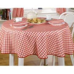 Tischdecke / Tischtuch mit Karo-Muster