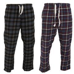 Cargo Bay Herren Karo elastische Pyjama/Lounch Hose (2 Stück)
