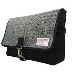 Harris Tweed Herren Schultertasche / Messenger-Tasche