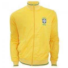 Herren Athletic Fußball Jacke / Trainingsjacke mit Brasilien CBF Logo