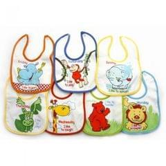Baby Jungen Lätzchen mit Tier-Designs für 7 Tage der Woche, mit Klettverschluss, 7 Stück