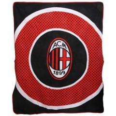 Fußball Fleece-Decke mit AC Milan Club Wappen