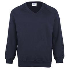 Maddins Herren Sweatshirt / Pullover Coloursure, V-Ausschnitt