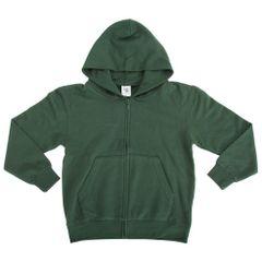 SG einfärbige Jacke mit Reißverschluss und Kapuze für Kinder