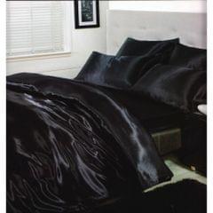 Charisma Satin Bettwäsche-Set, Bettbezug, Kissenbezug und Spannbetttuch