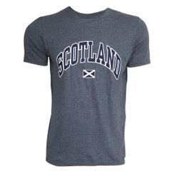 Herren T-Shirt mit Scotland-Aufdruck, kurzärmlig, Rundhals