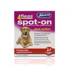 Johnsons 4Fleas Flea Spot On Flohschutz-Tropfen für große Hunde (zwei Anwendungen)