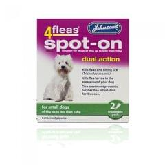 Johnsons 4Fleas Flea Spot On Flohschutz-Tropfen für kleine Hunde (zwei Anwendungen)