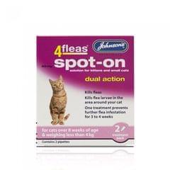 Johnsons 4Fleas Flea Spot On Flohschutz-Tropfen für junge und kleine Katzen (zwei Anwendungen)