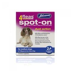 Johnsons 4Fleas Flea Spot On Flohschutz-Tropfen für Hunde (zwei Anwendungen)