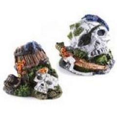 Caldex Classic Small Skull Aquariumornament, sortiert