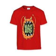 The T-Shirt Factory Kinder T-Shirt mit Monster-Design und Aufschrift Make Some Noise