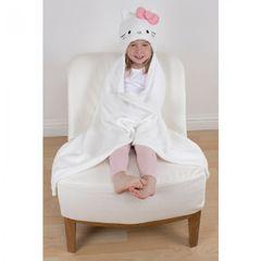 Hello Kitty Kinder/Mädchen Petal Charakter Fleece Decke mit Kapuze