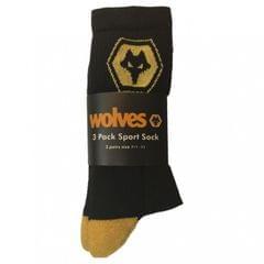 Wolves Herren Sport Socken (3 Paar)