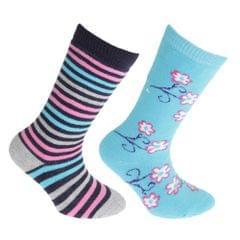 FLOSO Mädchen Gummistiefel Socken (2 Paar)