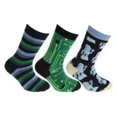 FLOSO Kinder Rutschfeste Socken (3 Paare)