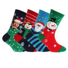 FLOSO Kinder Weihnachts Character Design Socks (4 Paar)