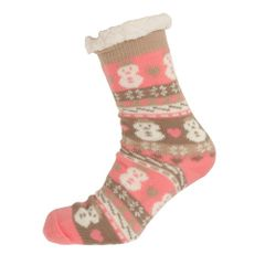 Aler Womens/Damen Thermo Socken im Schneemann Design.
