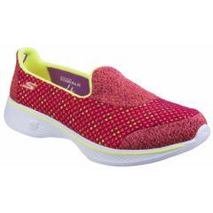 Skechers Damen SK14145 Go Walk 4 Kindle Slip On Schuhe