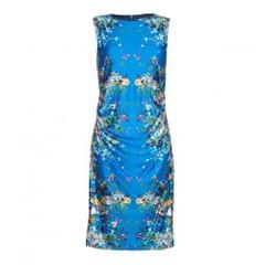 Yumi Damen Jersey-Kleid mit floralem Muster