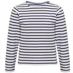 Asquith & Fox Kinder Mariniere Coastal Langarm T-Shirt
