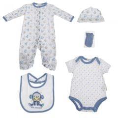 Nursery Time Baby 5-teiliges Geschenkset mit Affen Design