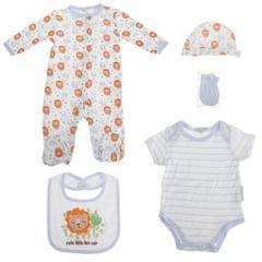 Nursery Time Baby 5-teiliges Geschenkset mit Löwen Design