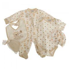Nursery Time Baby Unisex Little Stars Teddy & Bunny Geschenkset