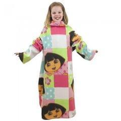Dora l'exploratrice - Couverture en polaire à manches - Fille