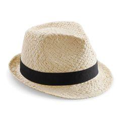 Beechfield - Chapeau trilby en paille - Adulte unisexe