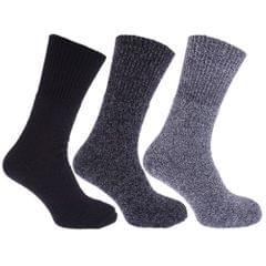 Chaussettes thermiques en mélange de laine, non-élastiquées (lot de 3) - Homme