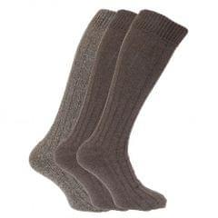 Chaussettes hautes rembourrées en mélange de laine (lot de 3 paires) - Homme