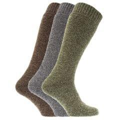Chaussettes pour bottes en caoutchouc en mélange de laine (lot de 3 paires) - Homme