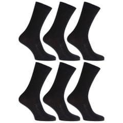 Chaussettes anti-bactériennes très douces avec dessus non-élastiqué (6 paires) - Homme