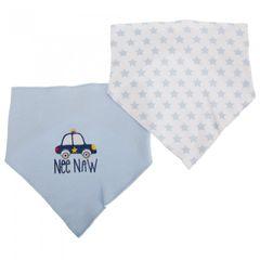 Nursery Time - Bavoirs bandana à scratch style voiture de police et étoiles (lot de 2)