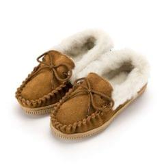Eastern Counties Leather - Chaussons mocassins avec doublure en laine - Enfant