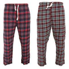 Cargo Bay - Pantalons de pyjama élastiqués (Lot de 2) Tartan - Homme