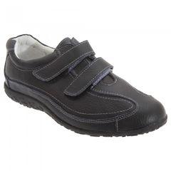 Boulevard - Chaussures extra larges en cuir et à sangles à scratch - Femme