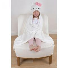 Hello Kitty - Couverture polaire avec capuche